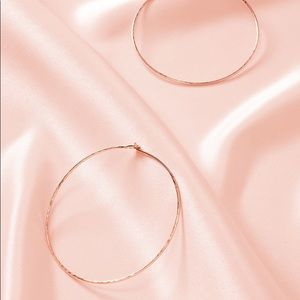 Stella & Dot *Essential Hammered* Hoops Rose Gold